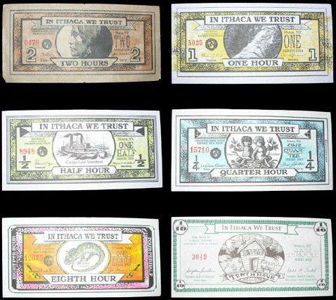 """Валюта """"итакский час"""" - одна из старейших локальных валют США города Итака. Валюту принимают около 500 компаний."""