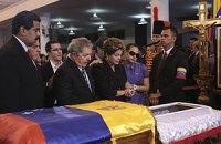 Тело Чавеса перевозят в военную академию
