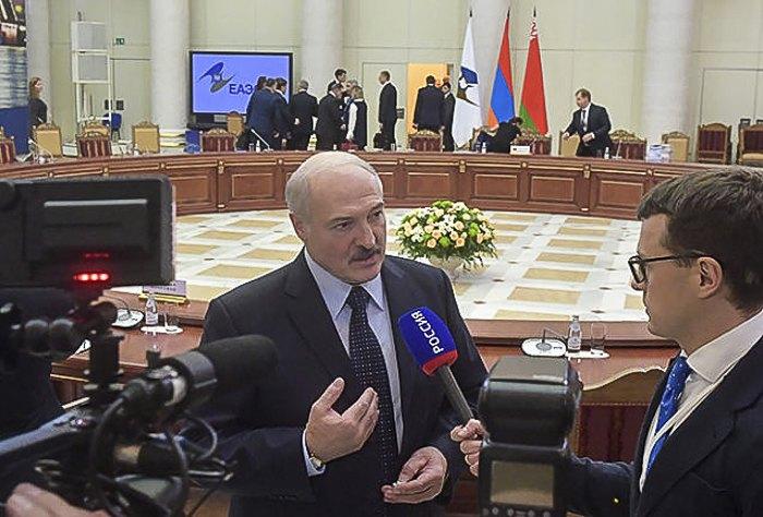Лукашенко на саммите ЕАЭС, 6 декабря.
