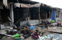 Возле метро Героев Днепра ночью сгорел рынок