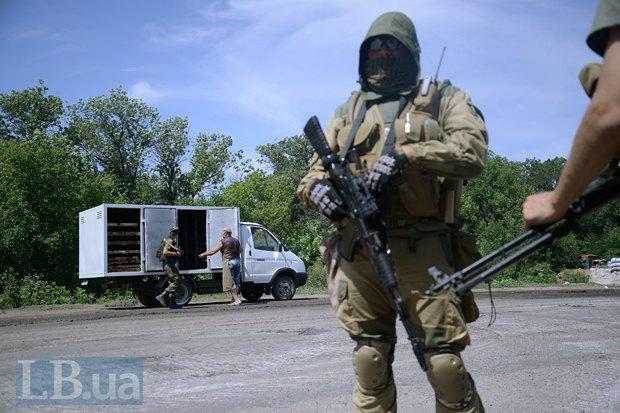 Проверка на блокпосту в Луганской области