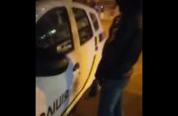 Двоє киян отримали кримінальну справу за справляння нужди на автомобіль поліції