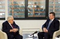 Янукович провел встречу с Киссинджером