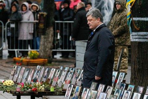 Порошенко пообещал построить музей Революции достоинства возле Майдана