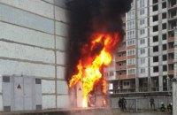 У Києві горіла трансформаторна підстанція на Ревуцького