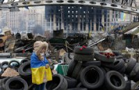 Комунальники розбирають барикади біля Будинку профспілок