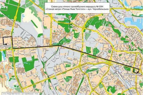 У Києві запускають чотири нічні маршрути громадського транспорту