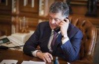 Порошенко обговорил с Тиллерсоном обострение ситуации на Донбассе