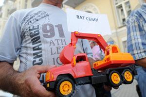 "Монтажники ""Киевгорстроя"" протестовали против руководства"