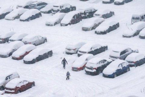 Снегопад в Киеве прекратится утром в четверг, ночью ожидается до -10 градусов