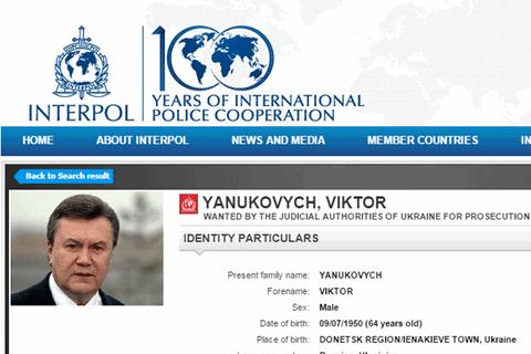 Інтерпол розгляне відновлення розшуку Януковича наприкінці січня