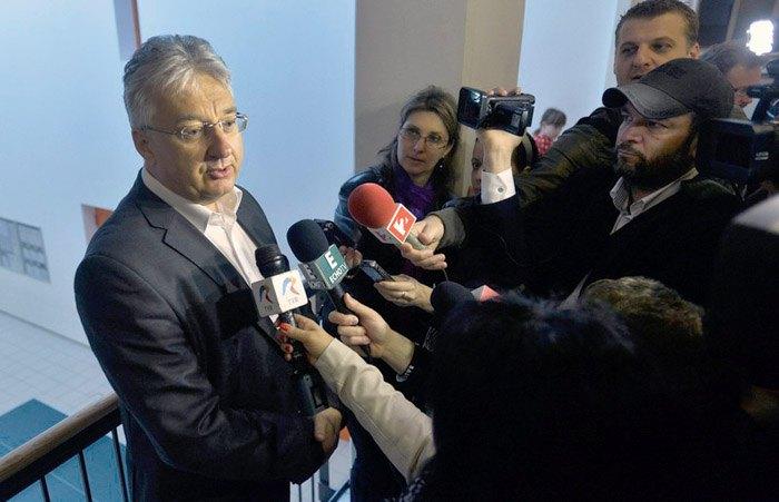 Вице-премьер Венгрии Жолт Шемьен (слева)