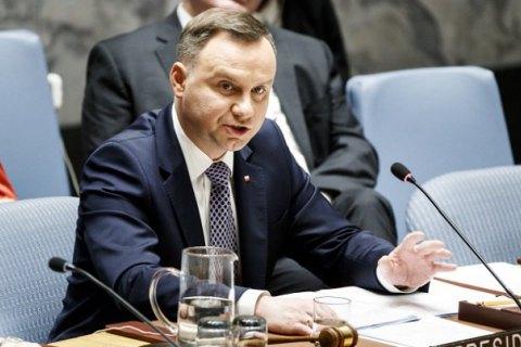 Президент Польши выступил заразвертывание миротворческой миссии ООН вДонбассе
