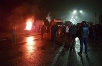 """Владельцы """"евроблях"""" продолжают блокировать пункты пропуска на границе с Польшей"""