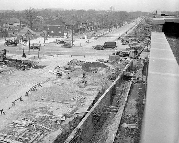 Строительство автомагистрали M-8 Дэвисон, США