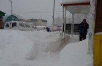 В Кировоградской области десятки грузовиков застряли в снежных сугробах