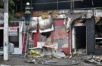 У центрі Дніпра згоріли п'ять кіосків