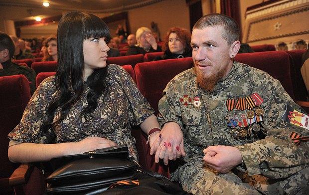 Арсен Павлов (Моторола) с женой Еленой