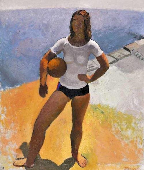 """Юрій Єгоров, """"Дівчина з м'ячем"""", 1980"""