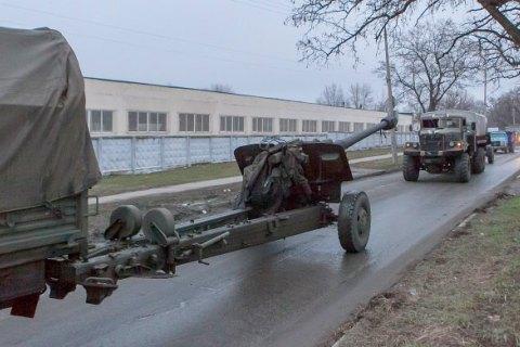 Силы АТО завершили отвод артиллерии от линии разграничения на Донбассе