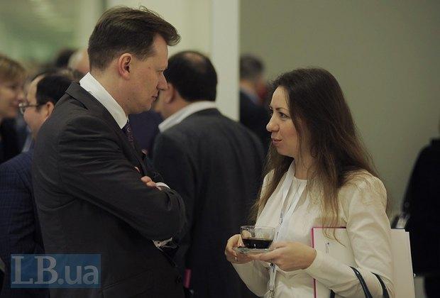 Руководитель международных программ Института Горшенина Дмитрий Остроушко и автор LB.ua Олеся Яхно