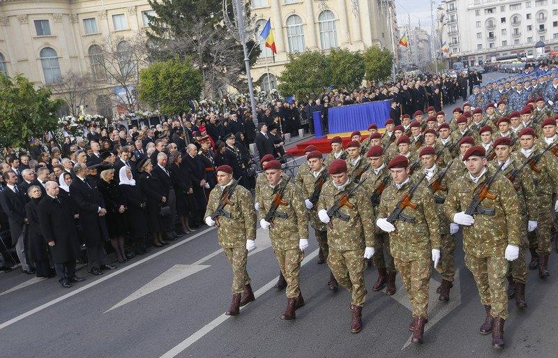 ВБухаресте был похоронен румынский монарх  Михай I