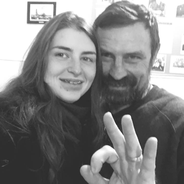 Николай Микитенко с дочерью