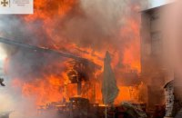 У центрі Тернополя загорівся ресторан