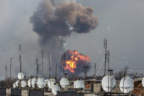 Інтенсивність вибухів у Балаклії зменшилася до двох на годину (оновлено)