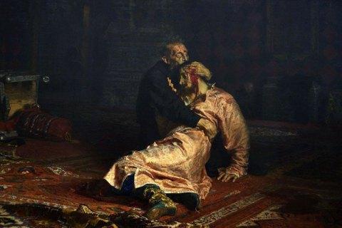 """Відвідувач Третьяковської галереї серйозно пошкодив картину """"Іван Грозний вбиває свого сина"""""""