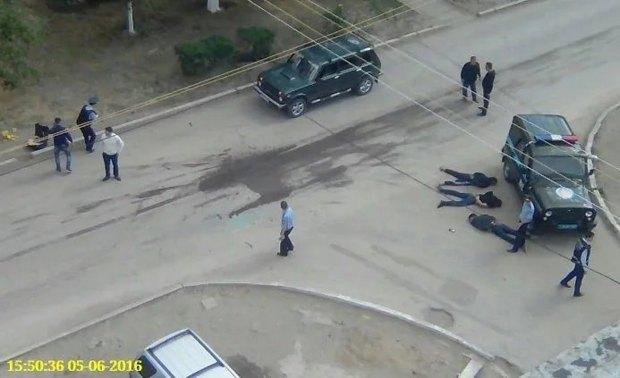 Фото очевидца с места проишествия в Актобе