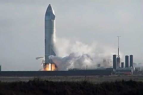 Прототип корабля SpaceX снова взорвался при посадке