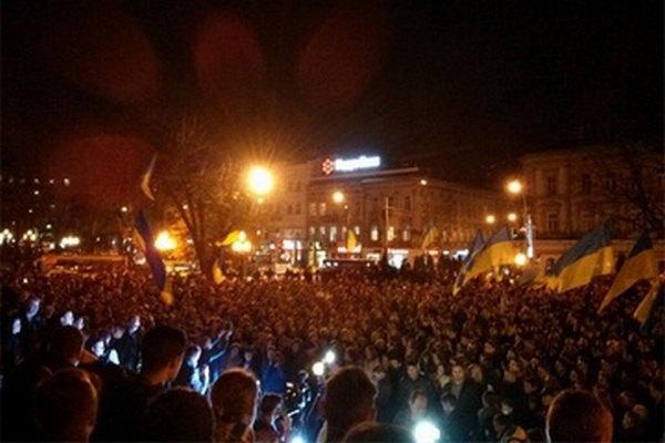 Митинг во Львове