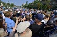 Мешканці проблемних будинків перекрили Харківське шосе в Києві (оновлено)