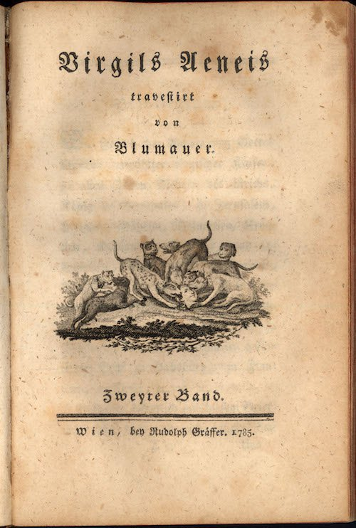 Енеїда Алоїса Блюмауера, титульна сторінка (перше видання, 1795, Відень)
