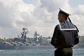 В Севастополе задержана автоколонна Черноморского флота