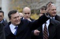 Янукович открыл в Киеве памятник пограничникам