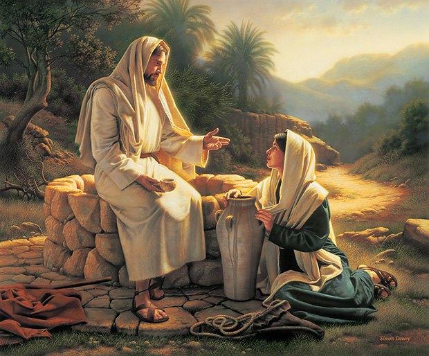 Рис.Разговор Христа с самарянкой у колодца