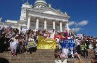 В Хельсинки начались акции сторонников и противников встречи Трампа с Путиным