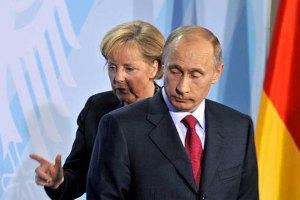 Путін запевнив Меркель, що Росія хоче конструктиву в газових переговорах з Україною