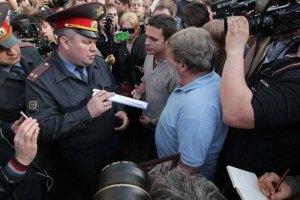 В Москве разгоняют лагерь оппозиции