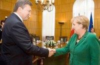 Янукович надеется, что Германия поддержит евроинтеграцию Украины