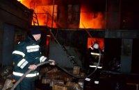 """На одесском рынке """"7-й километр"""" сгорел двухэтажный склад"""