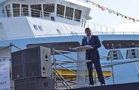 """""""Вы возрождаете судостроение"""", - Александр Стадник поздравил """"Нибулон"""" с введением в эксплуатацию 140-метрового судна"""