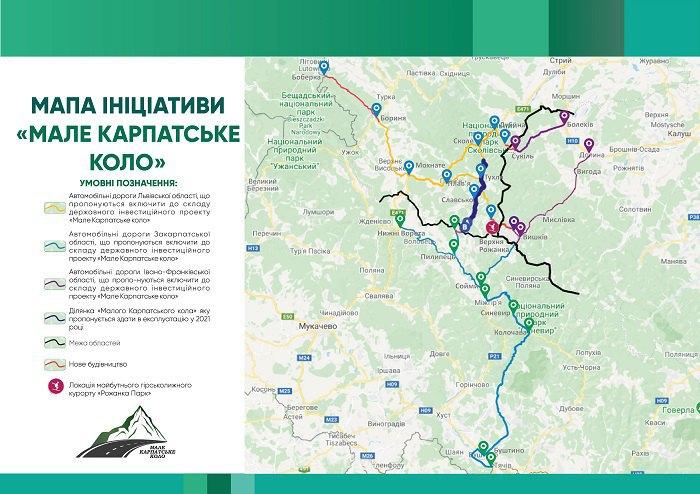Мапа доріг «Малого Карпатського кола
