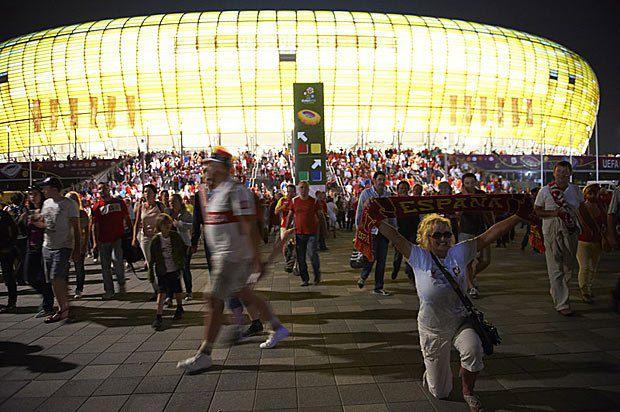Арена Ґданська після матчу Іспанія-Хорватія