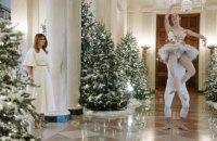 Белый дом в Вашингтоне украсили к Рождеству