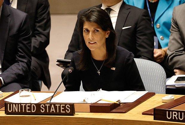Никки Хейли на заседании на совбезе ООН