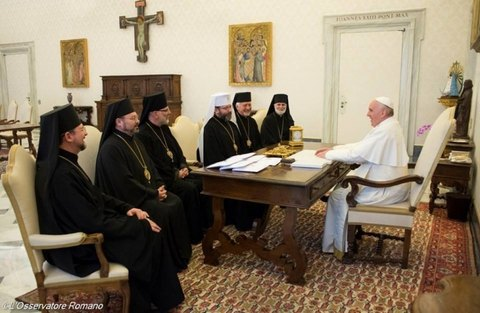 Голова УГКЦ розповів Папі Римському про гібридну війну РФ проти України