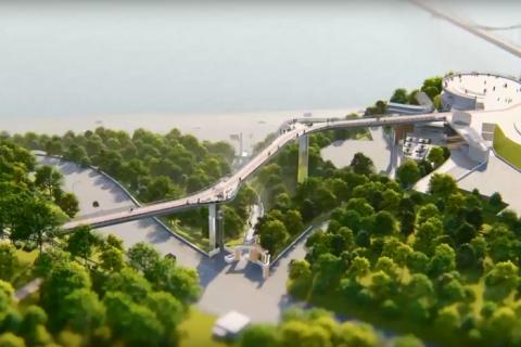 ДБР відкрило справу за фактом можливого розкрадання 11 млн гривень під час будівництва нового київського пішохідного моста